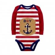 Body Baby Marinheiro Vermelho ML