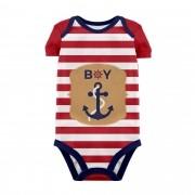 Body Baby Marinheiro Vermelho MC
