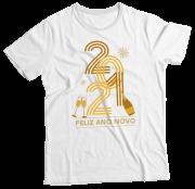 Camiseta Adulto 2021 Feliz Ano Novo