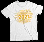 Camiseta Adulto 2021 Frases Feliz Ano Novo BR