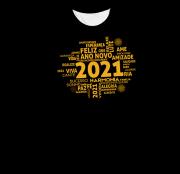 Camiseta Adulto 2021 Frases Feliz Ano Novo PR