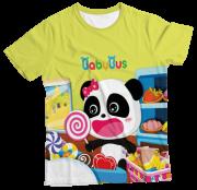 Camiseta Adulto Baby Bus Amarelo MC