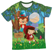Camiseta Adulto Chapeuzinho Vermelho MC