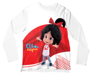 Camiseta Adulto Cleo e Cuquin Branco ML