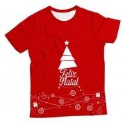 Camiseta Adulto Feliz Natal Vermelha MC