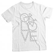 Camiseta Adulto Love Bike Branco MC
