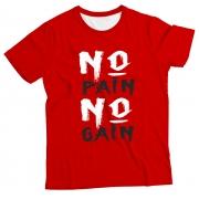 Camiseta Adulto No Pain, No Gain Red MC