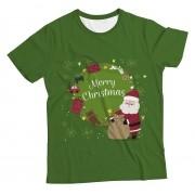 Camiseta Adulto Papai Noel Verde MC