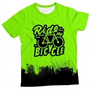 Camiseta Adulto Ride my Bicycle Green MC