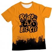 Camiseta Adulto Ride my Bicycle Orange MC