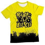 Camiseta Adulto Ride my Bicycle Yellow MC