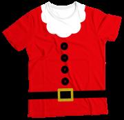 Camiseta Adulto Roupa Papai Noel MC