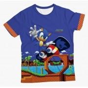 Camiseta Adulto Sonic Skate MC