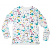 Camiseta Adulto Unicórnio Branco ML