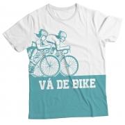 Camiseta Adulto Vá de Bike azul MC