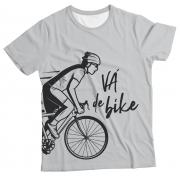 Camiseta Adulto Vá de Bike Branco MC