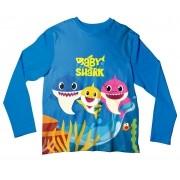 Camiseta Infantil Baby Shark Azul Escuro ML