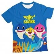 Camiseta Infantil Baby Shark Azul Escuro MC