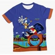Camiseta Infantil Sonic Skate MC