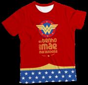 Camiseta Infantil Eu Tenho Uma Mãe Maravilhosa Bordô MC