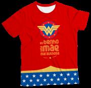 Camiseta Infantil Eu Tenho Uma Mãe Maravilhosa Vermelha MC