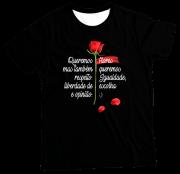 Camiseta Adulto Flores PR MC