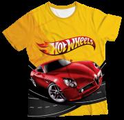 Camiseta Infantil Hot Wheels Carro Vermelho MC