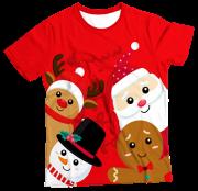 Camiseta Infantil Amigos Papai Noel MC
