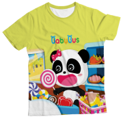 Camiseta Infantil Baby Bus Amarelo MC