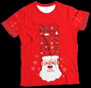 Camiseta Infantil Calendário Papai Noel MC