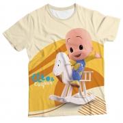 Camiseta Infantil Cleo e Cuquin Amarelo MC