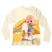 Camiseta Infantil Cleo e Cuquin Amarelo ML