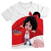 Camiseta Infantil Cleo e Cuquin Branco MC