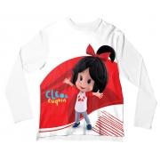 Camiseta Infantil Cleo e Cuquin Branco ML
