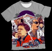 Camiseta Infantil De Volta Para o Futuro MC