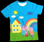 Camiseta Infantil Familia Peppa Pig MC