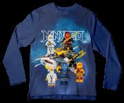 Camiseta Infantil Lego Ninjago Azul ML