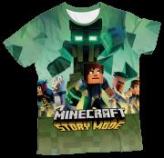 Camiseta Infantil Minecraft Story Mode 1 MC