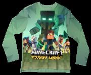 Camiseta Infantil Minecraft Story Mode 1 ML