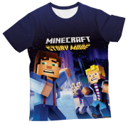 Camiseta Infantil Minecraft Story Mode 2 MC