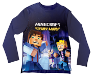 Camiseta Infantil Minecraft Story Mode 2 ML