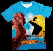 Camiseta Infantil Pac Man Pixels 2 MC