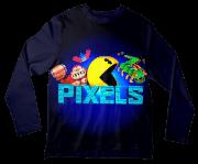 Camiseta Infantil Pac Man Pixels ML