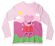 Camiseta Infantil Peppa Pig ML
