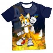 Camiseta Infantil Sonic Tails MC