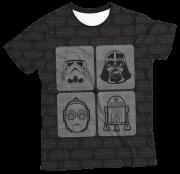 Camiseta Infantil Star Wars MC