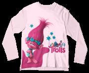 Camiseta Infantil Trolls Rosa ML