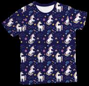 Camiseta Infantil Unicórnio Azul MC