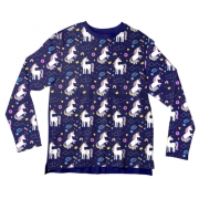 Camiseta Infantil Unicórnio Azul ML