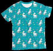 Camiseta Infantil Unicórnio Verde MC
